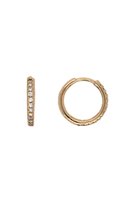 14k Yellow Gold Diamond Hoop Earrings G12055 product image