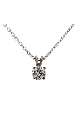 14k White Gold Forevermark Solitaire Pendant C9140 product image