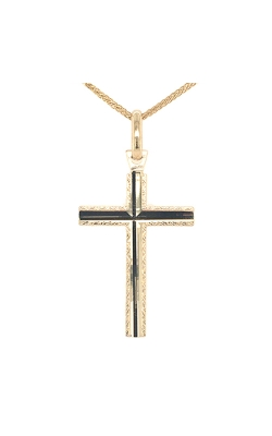 14k Yellow Gold Cross Pendant product image