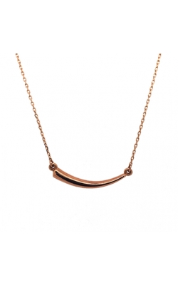 14k Rose Gold Horn Necklace G9468 product image
