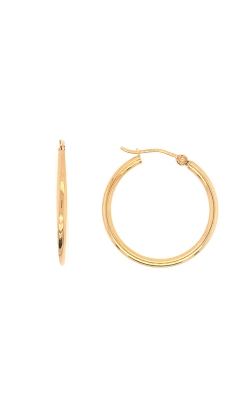14k Yellow Gold 25mm Hoop Earrings G9857 product image
