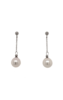 14k White Gold Akoya Pearls Drop Earrings - 7.0-7.5mm G10438 product image