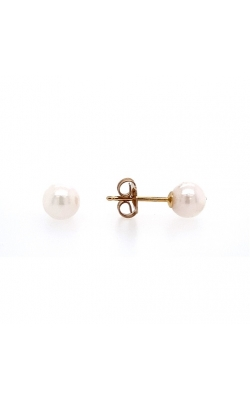 14k Yellow Gold Cultured Pearl Stud Earrings G12033 product image