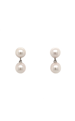 14k White Gold Akoya Pearls Drop Earrings - 7.0mm G9319 product image