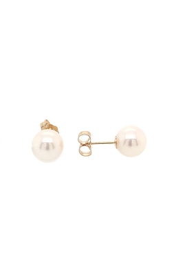 14k Yellow Gold Akoya Pearls Stud Earrings - 7.5-8.0mm C10628 product image