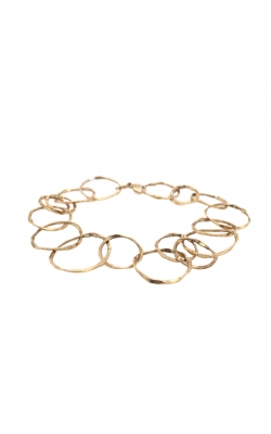 14k Yellow Gold Hammered Texture Bracelet - 8 Inches G10613 product image