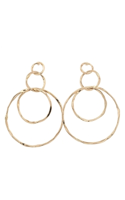 14k Yellow Gold Hammered Texture Dangle Earrings G11248 product image