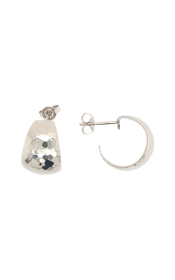 14k White Gold Hoop Earrings G11509 product image