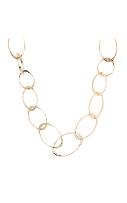 14k Yellow Gold Oval Gradation Necklace product image